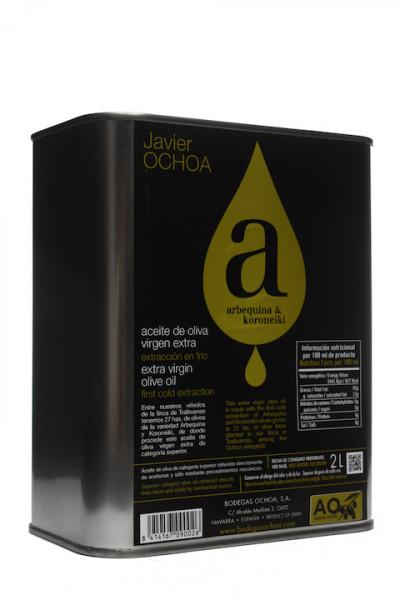 Javier Ochoa Arbequina Aceite de Oliva Virgen Extra 2,0 Liter