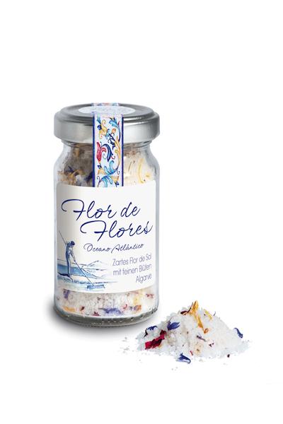 Feinstes Meersalz Flor de Sal mit feinen Blüten