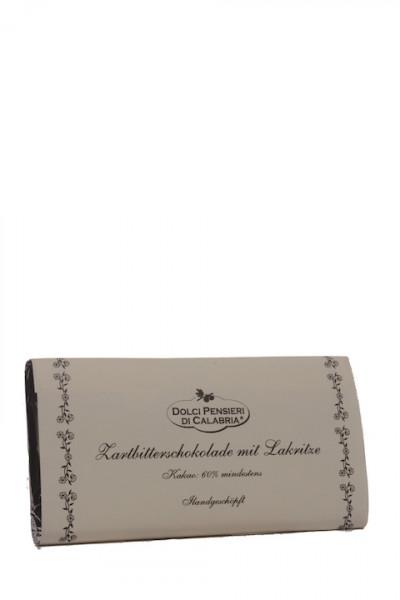 Dolci Pensierie di Calabria Zartbitterschokolade mit Lakritze