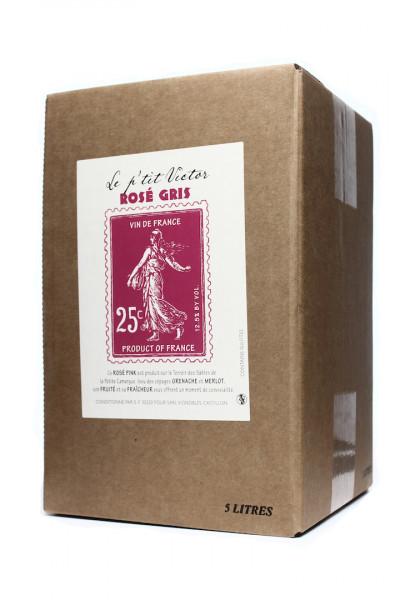 Le Petit Victor rose Bag in Box Merlot Grenache