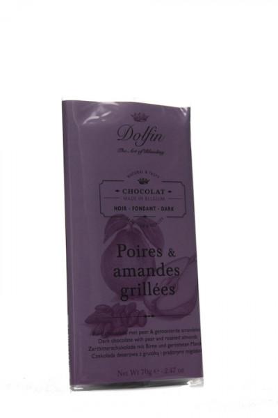 Dolfin Zartbitterschokolade mit Birne und ger. Mandeln
