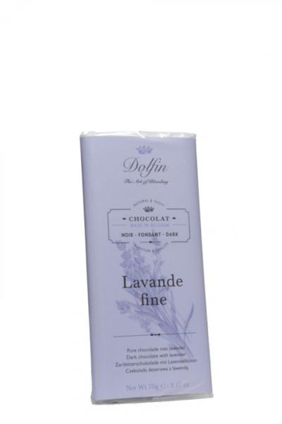 Dolfin Zartbitterschokolade mit Lavendelblüten