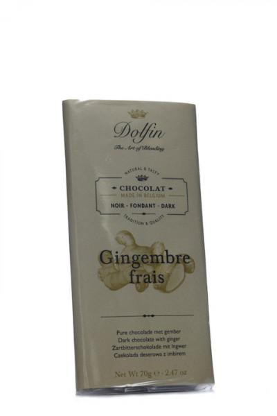 Dolfin Zartbitterschokolade mit Ingwer