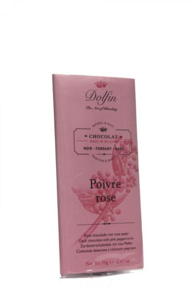 Dolfin Zartbitterschokolade mit rosa Pfeffer