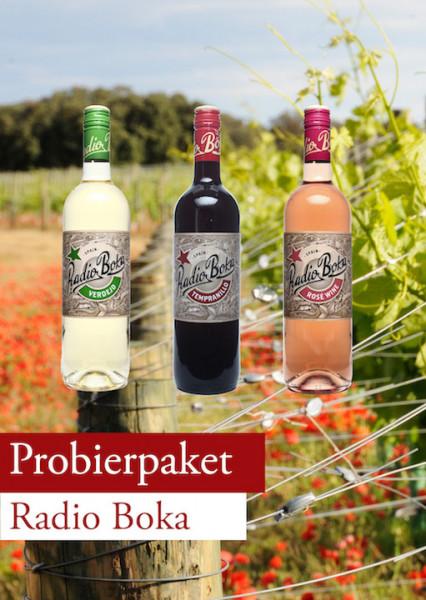 Radio Boka Probierpaket Rot Weiss Rose 12 Flaschen