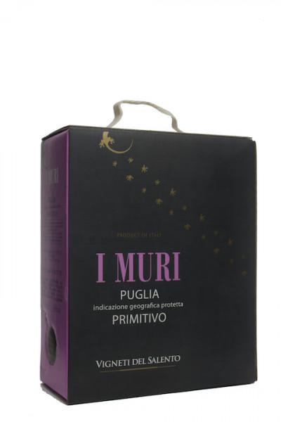 I Muri Primitivo Bag in Box 3 Liter