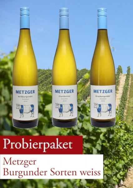 Metzger Probierpaket Burgunder Sorten weiss