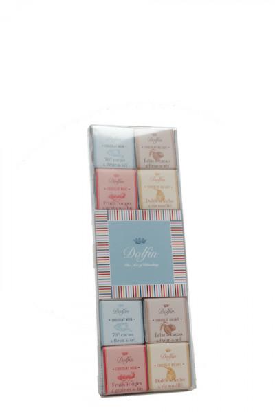 Dolfin Sortiment aus 24 Schokoladen Minitafeln