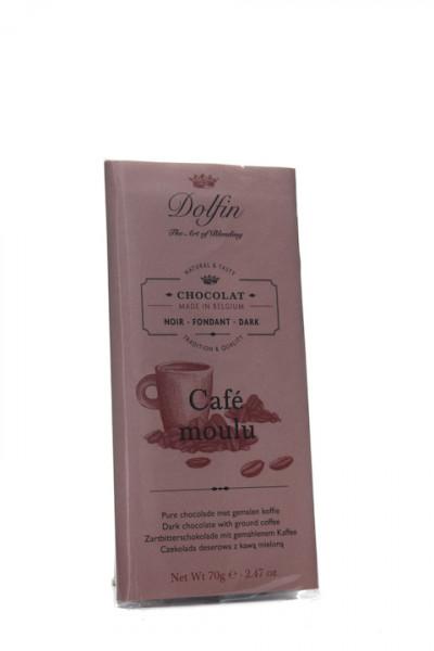 Dolfin Zartbitterschokolade mit gemahlenem Kaffee